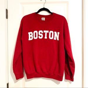 Boston Classic Red Sweatshirt